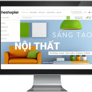 Giao diện website đồ gia dụng , nội thất