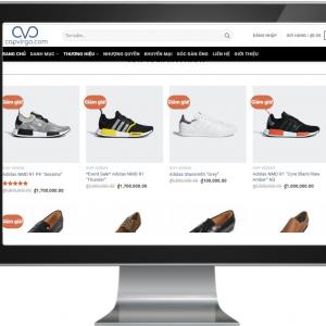 Giao website bán giày nam đẹp chuẩn SEO
