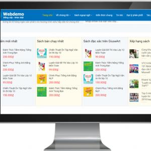 Giao diện Website kinh doanh sách , văn phòng phẩm chuyên nghiệp