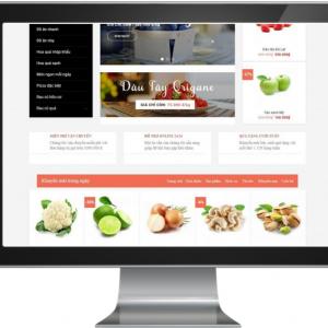Giao diện Website kinh doanh Nông Sản ,Thực Phẩm 02