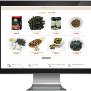 Giao diện Website kinh doanh Trà Nhật Bản