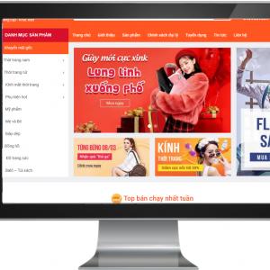 Giao diện Website Kinh doanh Thời Trang , Phụ Kiện Chuyên Nghiệp