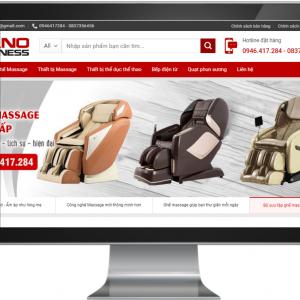 Giao diện Website Kinh Doanh Ghế massage