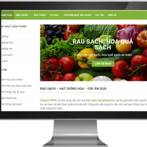 Giao diện Website Kinh doanh Thực Phẩm , Nông Sản