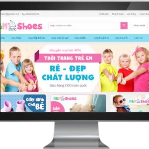 Giao diện Website Kinh Doanh Thời Trang Trẻ Em Chuyên Nghiệp