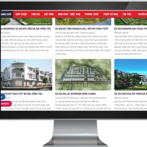 Giao diện Website Bất Động Sản Sàn Phân Phối Các Dự Án