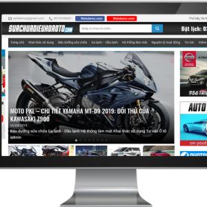 Giao diện website tin tức ô tô xe hơi chuẩn SEO