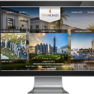 Giao diện website giới thiệu các dự án của VinHomes
