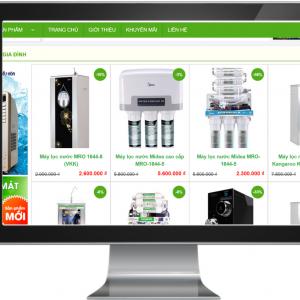 Giao diện Website kinh doanh Máy Lọc Nước