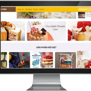 Giao diện Website kinh doanh Bánh Ngọt