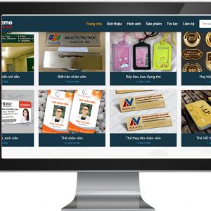 Giao diện Website kinh doanh Biển Chức Danh