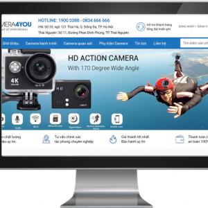 Giao diện Website kinh doanh Camera