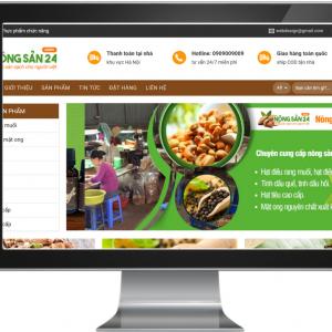 Giao diện Website kinh doanh Nông Sản