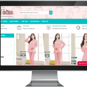 Giao diện Website Bán Đồ Bà Bầu