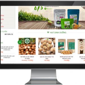 Giao diện Website kinh doanh Nông Sản ,Thực Phẩm