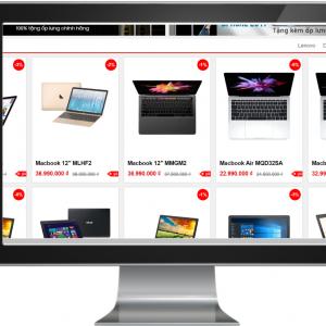 Giao diện website kinh doanh Điện thoại , Laptop , Máy tính bảng