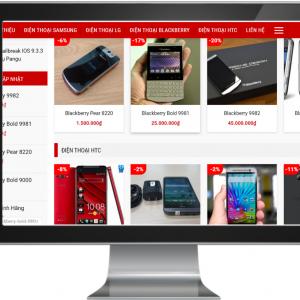 Giao diện website kinh doanh Điện thoại