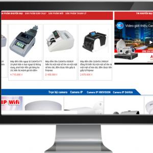Giao diện Website kinh doanh Thiết bị điện tử