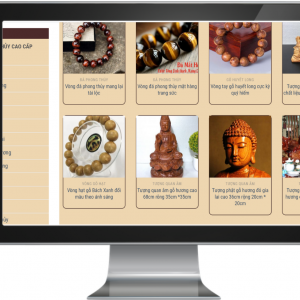 Giao diện Website kinh doanh Đồ gỗ , Mỹ Nghệ
