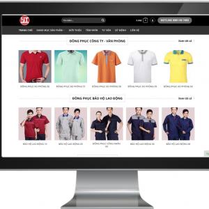 Giao diện Website xưởng may kinh doanh đồng phục