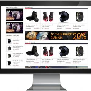 Giao diện Website kinh doanh Đồ Phượt