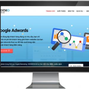 Giao diện Website dành cho đơn vị Marketing