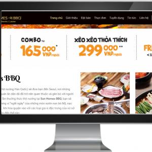 Giao diện Website Nhà Hàng BBQ