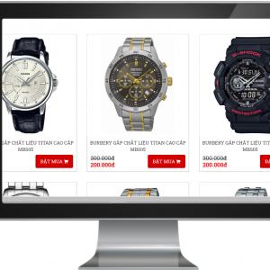 Giao diện Website kinh doanh Đồng Hồ