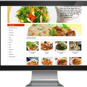 Giao diện Website kinh doanh Thực Phẩm