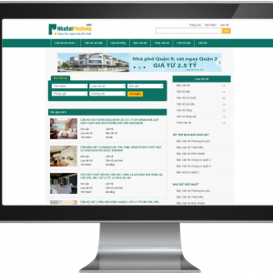 Giao diện Website đăng tin Bất Động sản