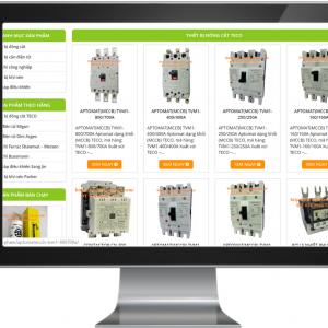 Giao diện Website kinh doanh Thiết bị & Công nghệ tự động