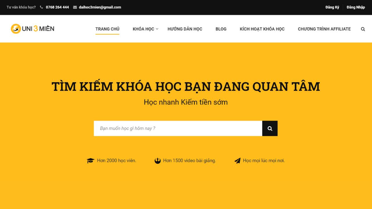 Hướng Dẫn Thiết Kế Web Học Online Trực Tuyến Elearning Từ A đến Z