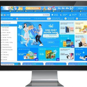 Giao diện Website sàn thương mại điện tử như Tiki