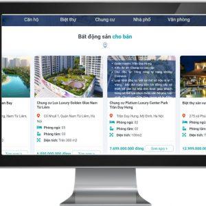 Giao diện Website Bất Động Sản Sàn Phân Phối Các Dự Án 2