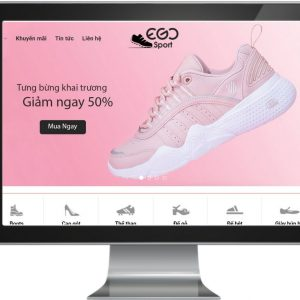 Giao diện website kinh doanh giày đẹp