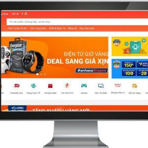 Giao diện Website sàn thương mại điện tử như Shopee