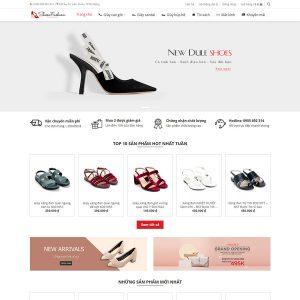 Mẫu Website Kinh Doanh Nữ