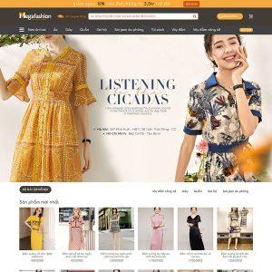 Mẫu Website Kinh Doanh Đầm Nữ