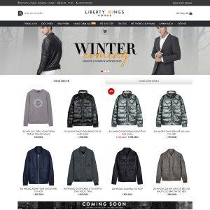 Mẫu Website Kinh Doanh Thời Trang Nam