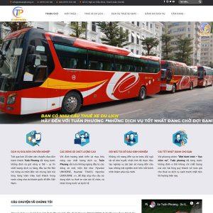 Mẫu Website Dịch Vụ Cho Thuê Xe Du Lịch