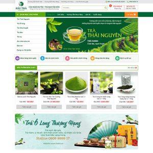 Mẫu Website Kinh Doanh Trà Xanh