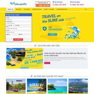 Mẫu Website Đặt Vé Máy Bay
