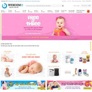 Mẫu web bán hàng mẹ và bé