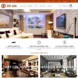 Mẫu website kinh doanh đồ nội thất Đỗ Gia