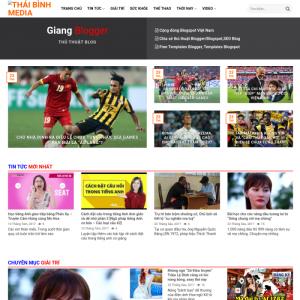 Giao diện mẫu website tin tức bóng đá